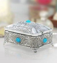 Jewelry Box with Turquoise-Stones