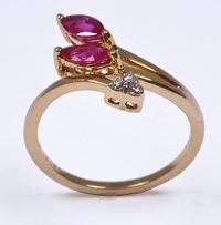 Ruby Designer Diamond Curve Ring