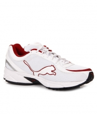 Puma export surplus Comfy White & Red Sports Shoes