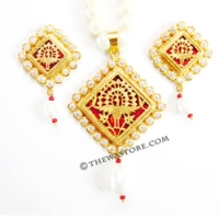 Buy Rajasthani Necklaces jewelry - Thewa Art Store
