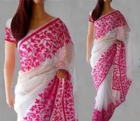 Supernet saree and salwars with aari work