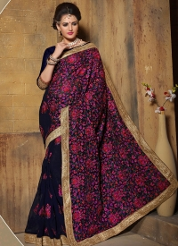 Blue Bamberg Bridal Saree