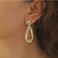 Drop Gold Stone Earrings from Swarovski Elements