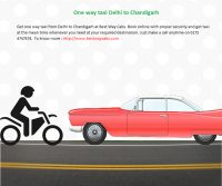 One way taxi Delhi to Chandigarh