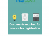 Apply Service Tax Registration Online LegalRaasta