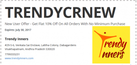 New User Offer - Get Flat 10% Off On All Orders With No Minimum Purchase