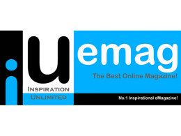Inspiration Unlimited eMagazine