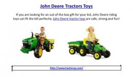 John deere tractors toys