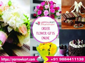 Flower & Cake delivery in Chennai - https://yarrowkart.com/