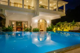 Snooker lounge, AV room, swimming pool are amenities you get with a 4 bedroom luxury villa in goa.