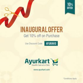 Flat 10% Off on all Ayurvedic Medicines & Get Free Shipping