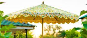 Cheap Garden Parasol, Indian Garden Umbrella UK, 3m Garden parasol - Jaipur Garden Parasols