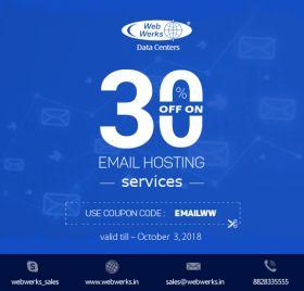 Get 30% off on Email Hosting services – Web Werks