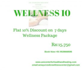 Flat 10 percent off on 7 Days Ayurvedic Wellness Massage