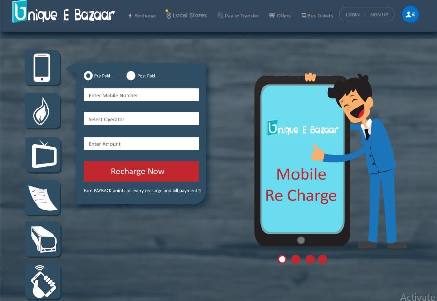 Unique E-Bazaar-Multi Recharge Solution,Recharge API,Recharge Software,Bill payment solution
