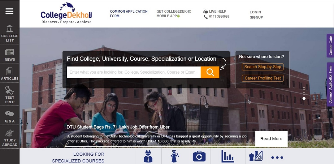 Web Portal For Best MBA Colleges in India