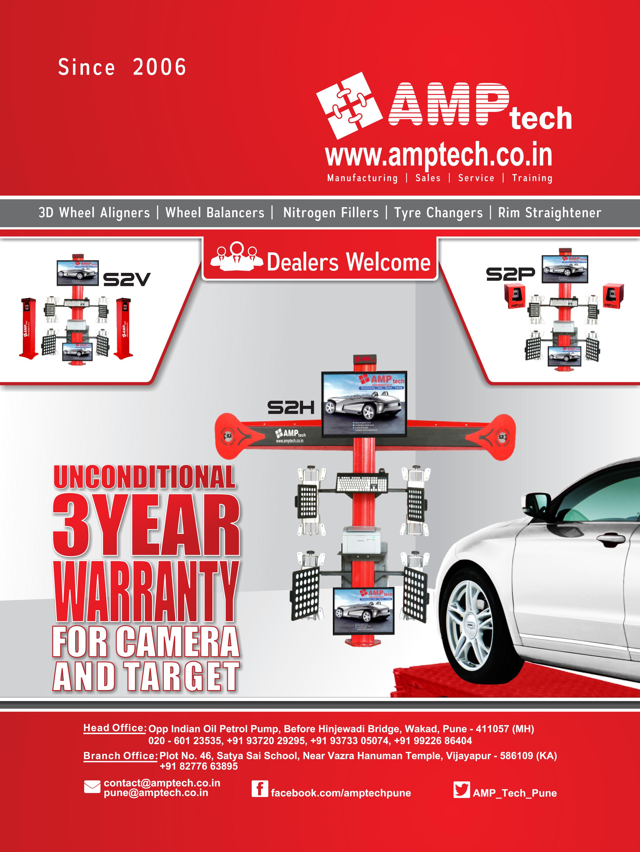 AMPTECH | Wheel Balancer machine manufacturer  Supplier