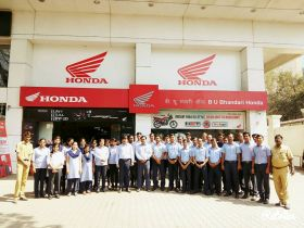 B. U. Bhandari Honda two wheeler showroom