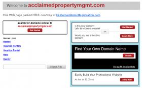 Acclaimed Property Management, LLC