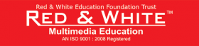 Red & White Multimedia Education
