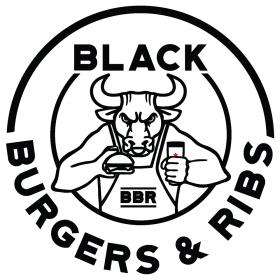Black burger & Ribs