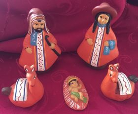 Births and Christmas ornaments handmade in clay