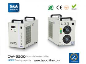 S&A laser chiller CW-5200 with double input and ou