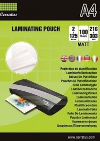 Cerratus Laminating Pouch A4 216x303 125mic MATT