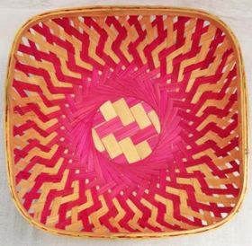 Square Bamboo Gift Basket