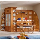 Adventure Reclining Bunk Bed With Wardrobe Cabin