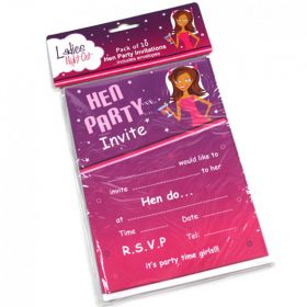 Hens Party Invites – Pack Of 10 | Pecka Products