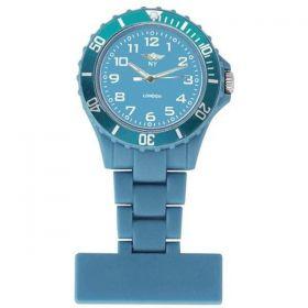 NY LONDON Light Blue Dial Nurse FOB Watch Light Bl
