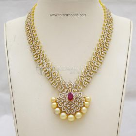 Diamond Necklace Sets In Hyderabad