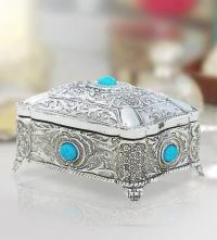 Jewelry Box with Turquoise-Stones
