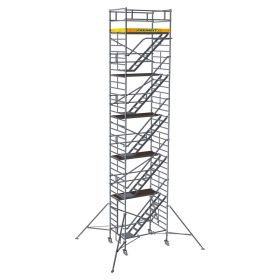 ALUMINUM SCAFFOLDING TOWER WITH STAIRWAY