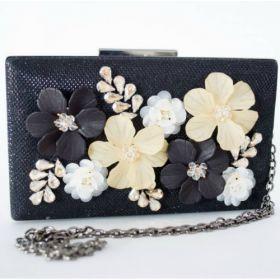 Sondra Roberts 3-D Floral Evening Box Clutch Bag