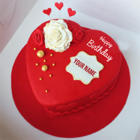 Romantic Red Heart Cake