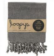 Charcoal Grey Stonewash Turkish Towels | Loopys