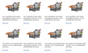 A/C Compressor Parts for Cars