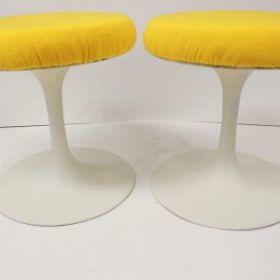 Tulip base stools by Burke Saarinen style