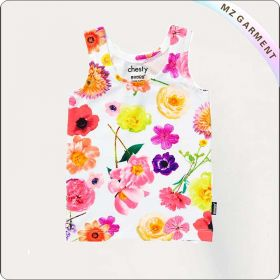 Girls Hawaiian Print Undershirt