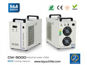 S&A recirculating chiller for cooling 3W-5W UV las
