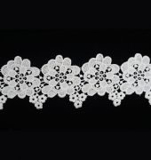 Floral White Lace Trim Series