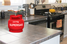 2KG LPG Cylinder with Cooktop