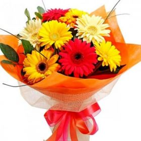 Fresh Flowers Bouquet of Gerbera