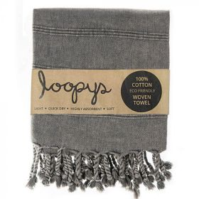Charcoal Grey Stonewash Turkish Towels