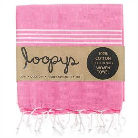Original Turkish Towel In Bubblegum Pink