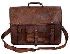 18 Inch Leather Laptop Messenger Bag