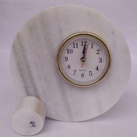 White Makrana Marble Table Clocks