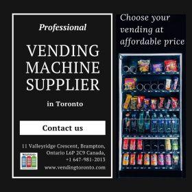 Snacks, beverages, pastries vending machines